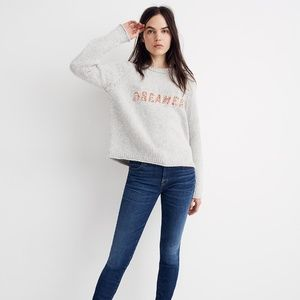 NWT MADEWELL Dreamer Embroidered Keaton Sweater